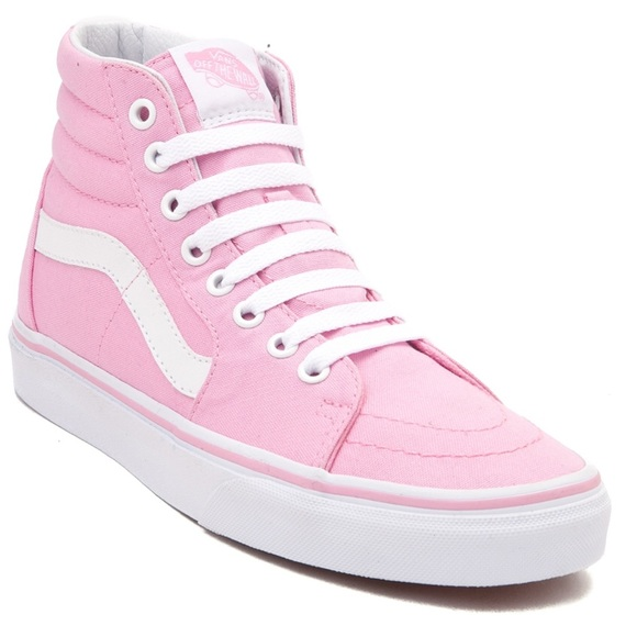 Vans Sk8 Hi Skate Shoe in Prism Pink. M 5c390702aa5719eabb604a2c 64d9f35902f6